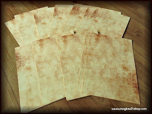 Parchment paper HD printed on high quality paper