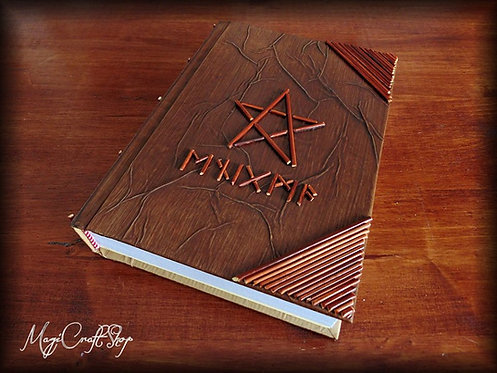 Book of shadows RUNIC NAME - BIG size - 31x22 cm