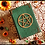 Thumbnail: Wooden pentacle Book of Shadows with screws - A5 size