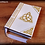 Thumbnail: Book of shadows with triquetra and celtic knots - MEDIUM size - 22x16 cm