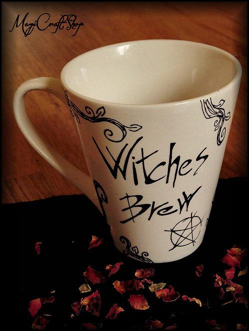 Tea set mug+plate WITCHES BREW STYLE