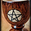 Thumbnail: Wicca wooden cup chalice with pentacle - small size