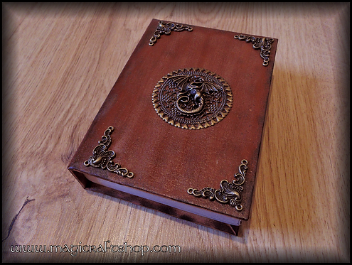Book of shadows BROWN DRAGON - SMALL size 16,2x11,8 cm