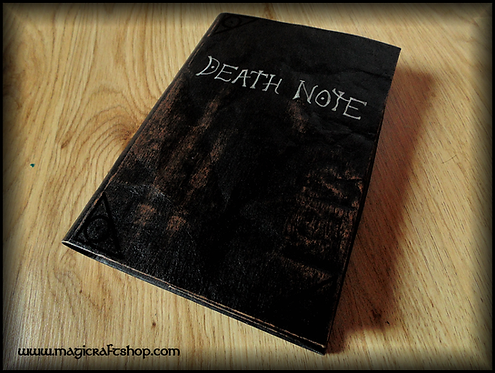 Death Note Book Movie Replica with original rules printed on ivorypages