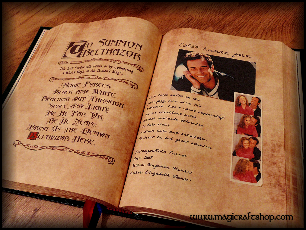 DELUXE Charmed BOOK OF SHADOWS replica with originals pages - BIG size -  31x22