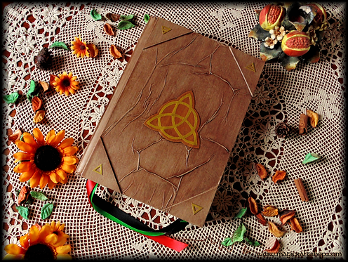 ELEMENTS Book of shadows with SCREWS - BIG size - 31x22 cm