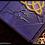Thumbnail: MAGIC LOCK Book of shadows VIOLET with triquetra - MEDIUM size - 22X16 cm