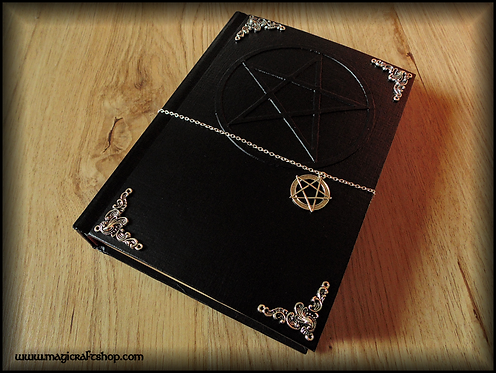 PENTACLE Book of shadows - MEDIUM size - 22X16 cm