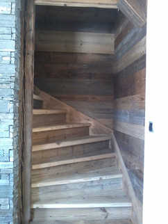 Old wood stair case Les Gets