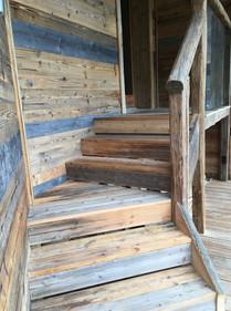 Old wood stair case Morzine