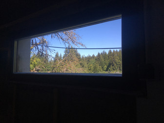 Les Gets basement window