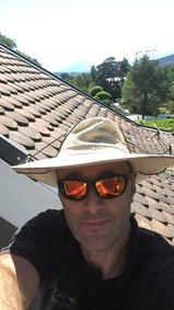 Sam Jones on a hot roof