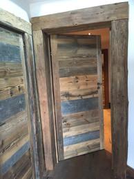 Old wood door fitted in Chalet Morzine