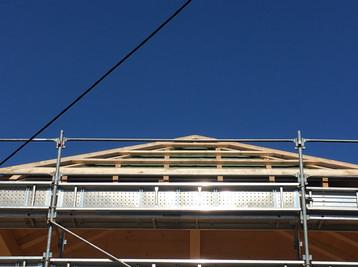 Roof under construction Morzine