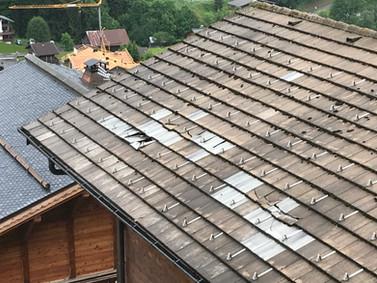 Roof repair Les Gets before