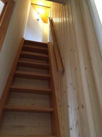 Pine staircase Morzine