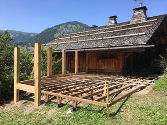 Decking under construction Les Gets