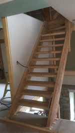 Old wood stair case Seytroux