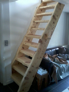 Pine stair case Morzine