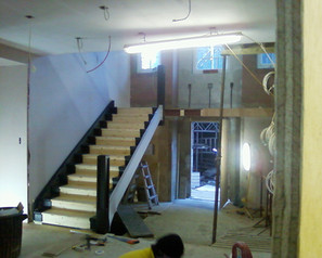 Stair case under construction Thonon
