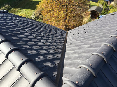 Valley of completed roof Morzine