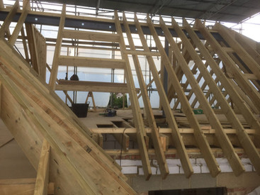 Cut Roof under construction