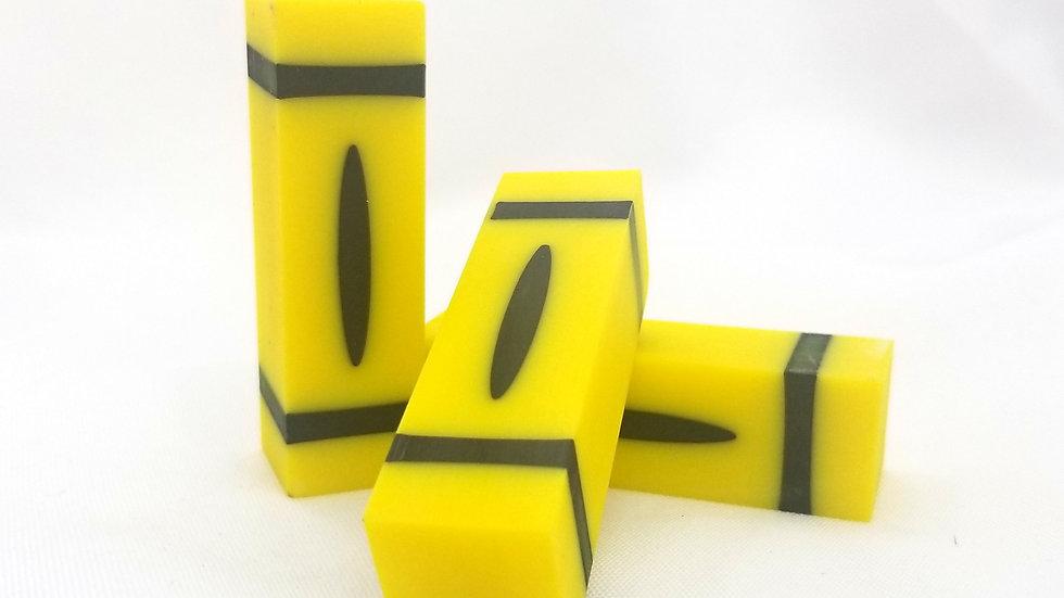 "3"" Opaque Yellow Crayon Blank"