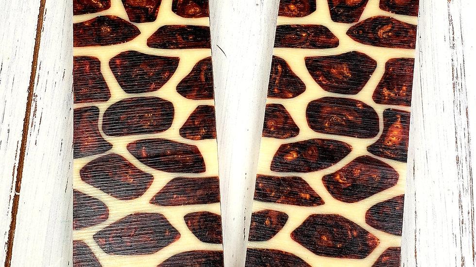 Original Brown Giraffe Knife Scale