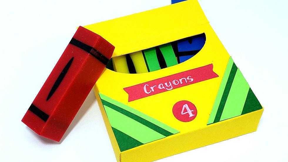 "3"" Crayon Pen Blank Set"