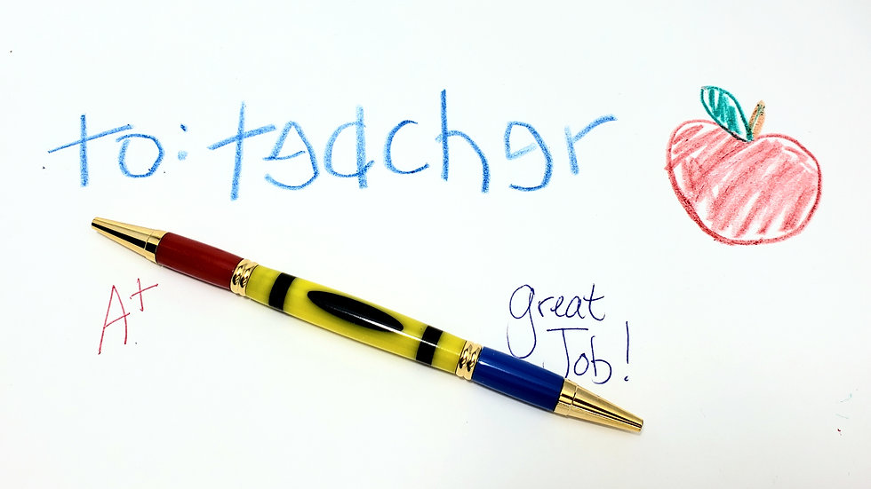 Crayon Teacher Pen