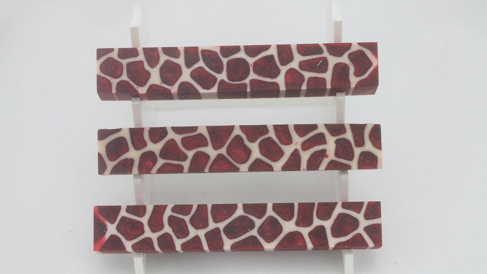 Ruby Red Giraffe Pen Blank
