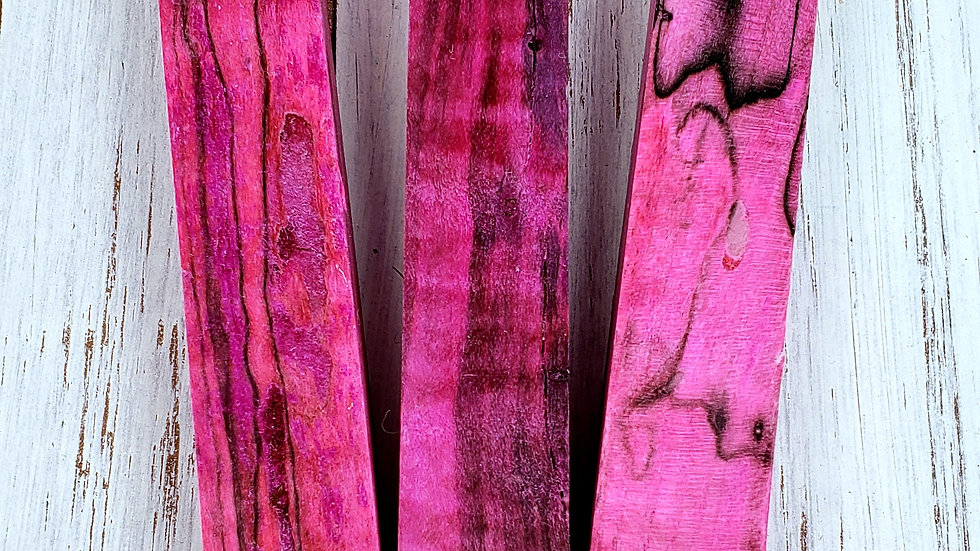 Pink Spalted Maple Pen Blank