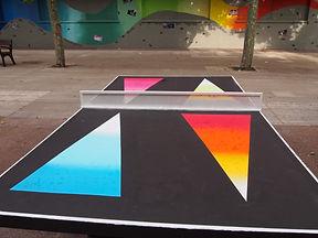 Diseño final de la mesa de ping-pong de El Pilar