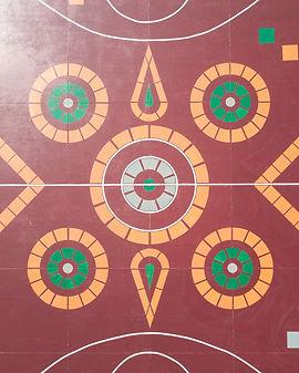 Diseño central de la cancha de Pune
