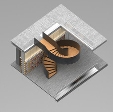 Varna Library Spiral Staircase With Curved Steel Plate Railings