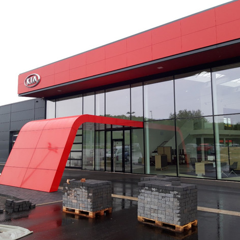 Front Architectural Element, KIA Dealership Rosbach