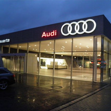 Suspended Facade,  Audi Dealership, Duseldorf