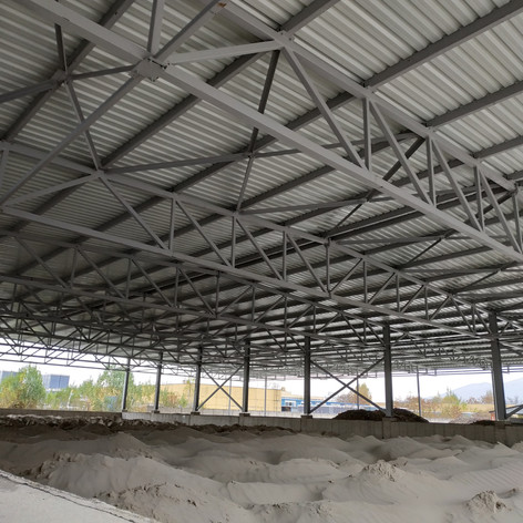 Shelter for Raw Materials in Stind Sofia Plant