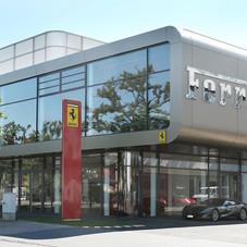 Suspended Facade, Ferrari Dealership, Frankfurt