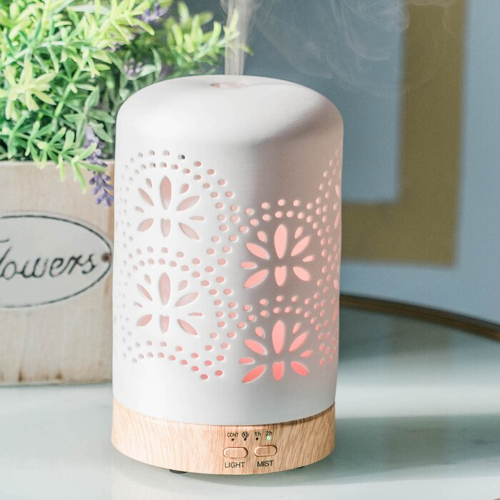 White Ceramic Aromatherapy Diffuser w Co