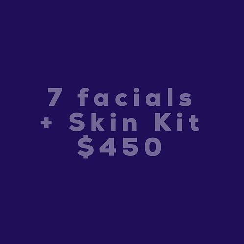 7 Facials + Skin Kit