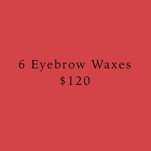Six Eyebrow Waxes