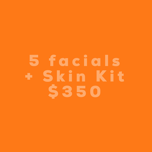 5 Facials + Skin Kit