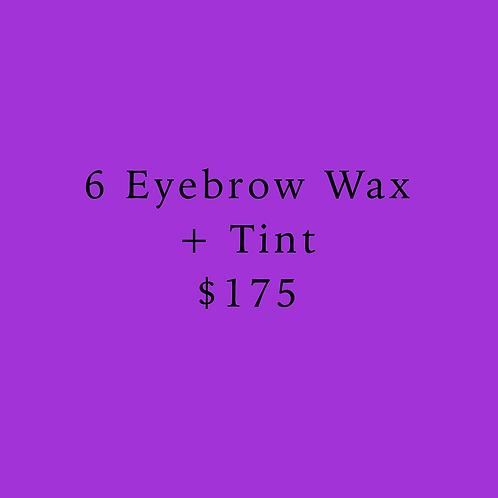 6 Eyebrow Wax & Tints