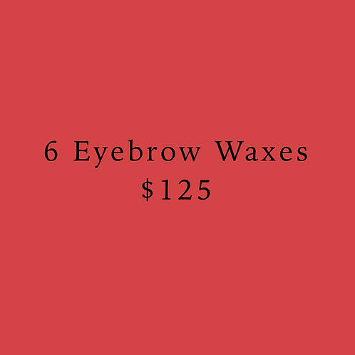 6 Eyebrow Waxes