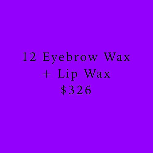 12 Eyebrow & Lip Waxes