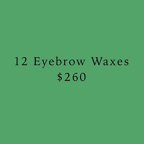 12 Eyebrow Waxes