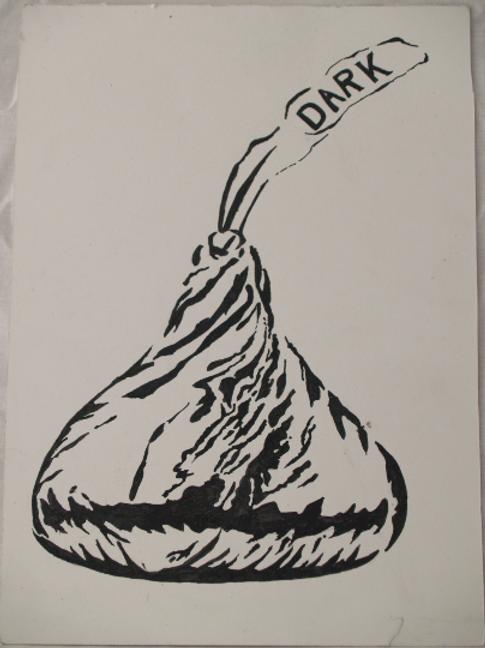 Inkpen Studies for Illustrator: Hershey's Kiss