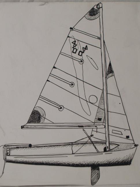 Inkpen Studies for Illustrator: Sailboat