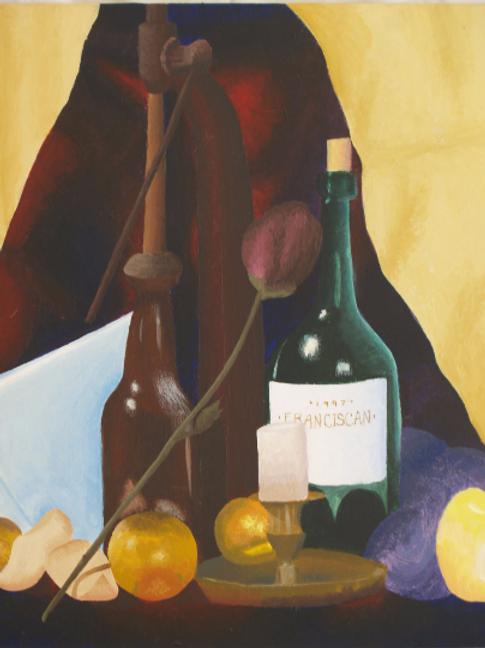 Still Life in the Wine Cellar